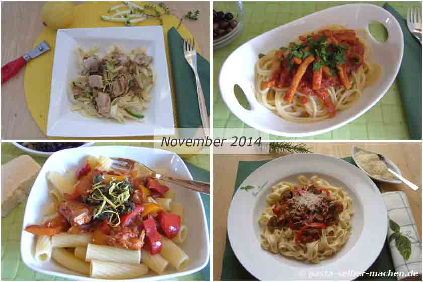 Pasta Rezepte November 2014