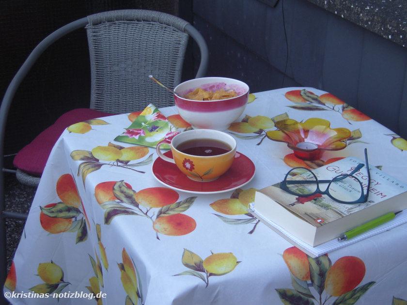 August 2020 - Frühstück auf dem Balkon
