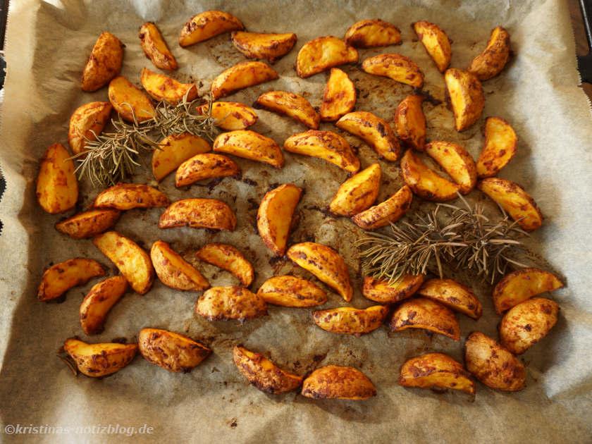 servierfertige Kartoffel Wedges